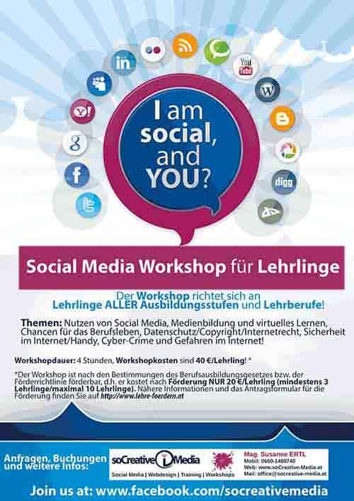 I am social Workshop für Schüler und Lehrlinge